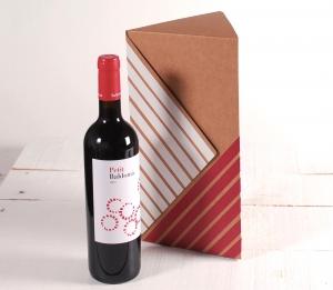 Boîte à vins triangulaire décorée
