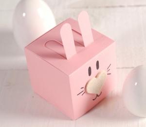 Petite boîte carrée en forme de lapin