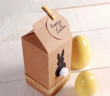 Petite boîte de type tétrabrik pour Pâques