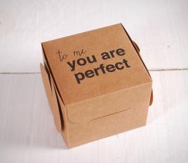 Boîte imprimée pour cadeaux. You're Perfect