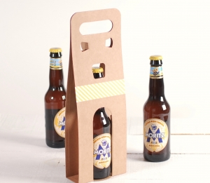 Boîte à bières décorée