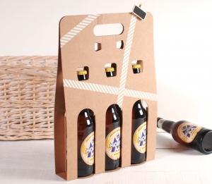 Boîte décorée pour 3 bières