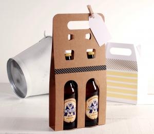 Présentation pour bières décorée