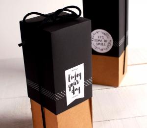 Boîte pour offrir des bouteilles