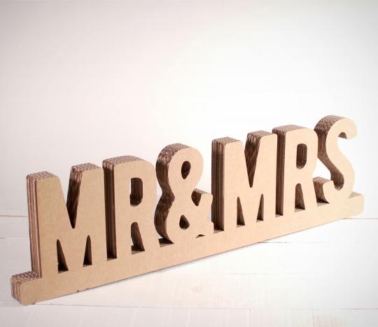 Mr & Mrs en carton