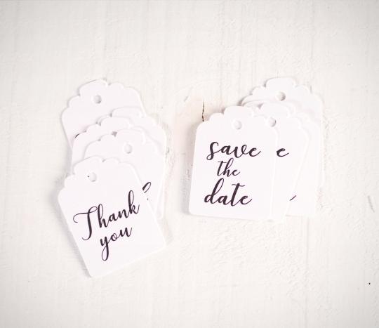 Étiquettes pour cadeaux de mariage