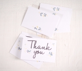 Grandes cartes Merci pour mariages