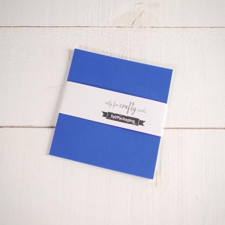 Feuilles de papier bristol végétal Bleu 16,5x 16,5cm