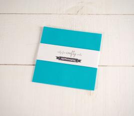 Feuilles de papier bristol Végétal Turquoise 16,5x 16,5cm