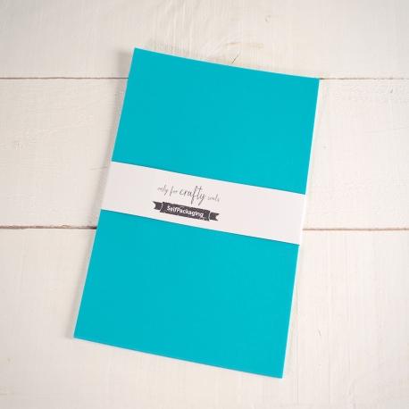 Feuilles de Papier Bristol Végétal Turquoise A4