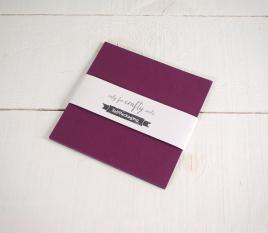 Feuilles de papier bristol Vin Sirio 16,5x 16,5cm