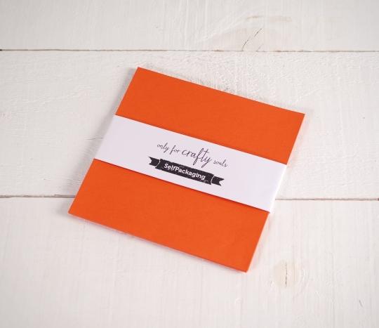 Feuilles de papier bristol Orange Sirio 16,5x 16,5cm