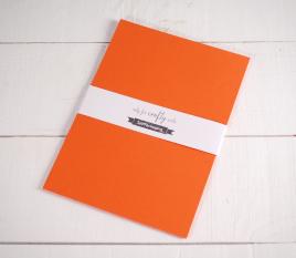 Feuilles de papier bristol Orange Sirio A4