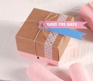 Petite boîte à offrir à un mariage
