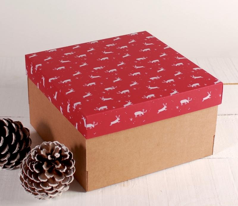 bo te cadeau avec des rennes bo tes originales pour no l. Black Bedroom Furniture Sets. Home Design Ideas