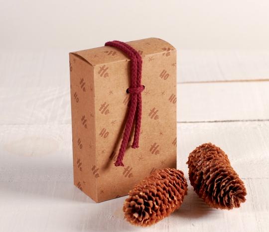 Petite boîte ficelle Ho Ho Ho