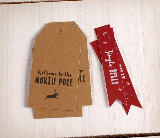 Étiquettes de noël Pôle Nord