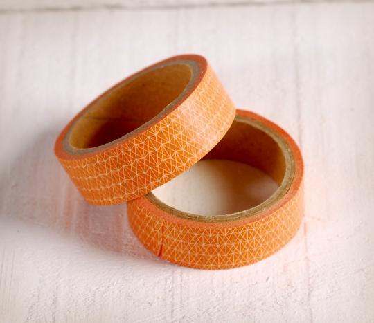 Washi tape géométrique orange