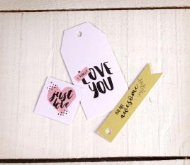 Kit d'étiquettes imprimées Love