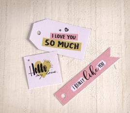 Kit de étiquettes imprimées avec des messages d' amour