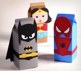Boîte cadeau super-héros