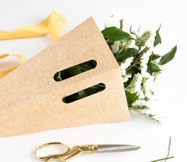 Boîte carton pour bouquets de fleurs