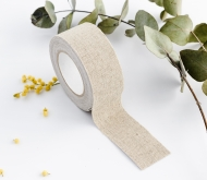Fabric tape en lin large