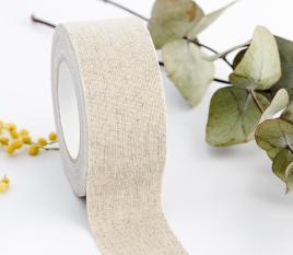 Fabric tape en lin large