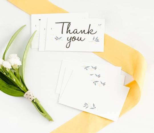 Cartes avec un message pour mariages