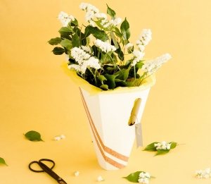 Boîte pour bouquets de fleurs minimal