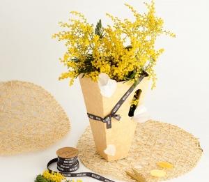 Boîte pour bouquets de fleurs plus