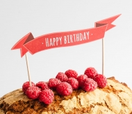 Topper pour tartes: Happy Birthday