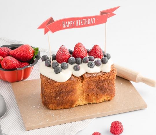 Topper pour tartes: Happy Birthday