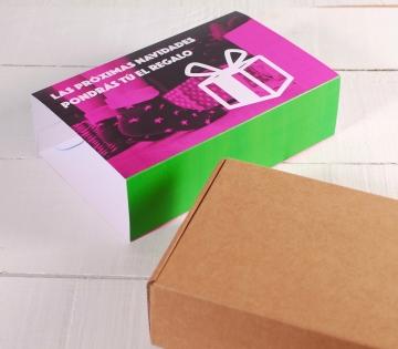 Boîte pour envois postaux avec bandeau personnalisable