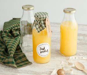 Bouteille en verre pour jus de fruits