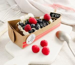 Boîte pour une portion de tarte