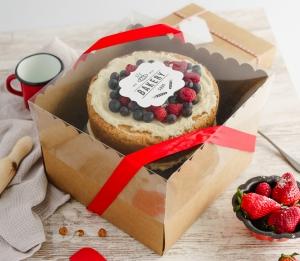 Boîte pour tartes avec couvercle transparent