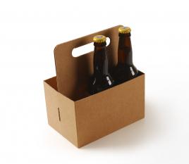 Boîte carton pour bières avec poignée