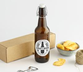 Bouteille pour la bière avec une fermeture automatique