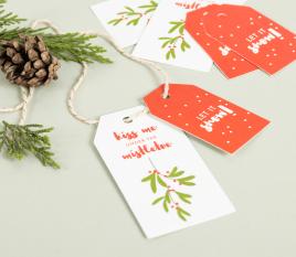 6 étiquettes de Noël