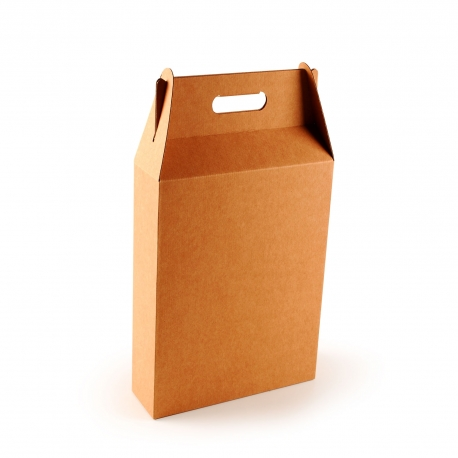 Boîte carton à vin avec une anse