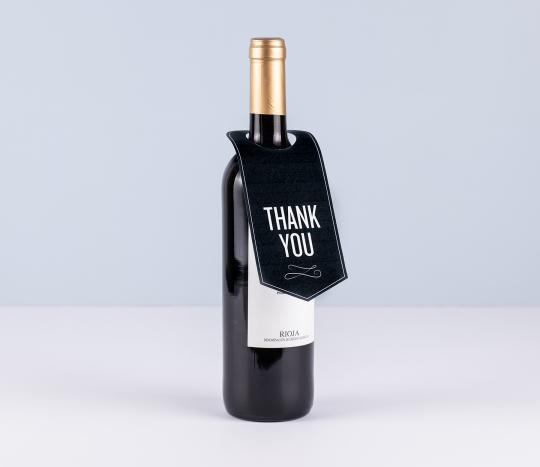 Étiquette goulot de bouteille