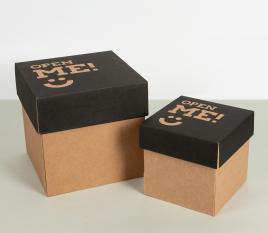 Boîte carton d'expédition avec couvercle