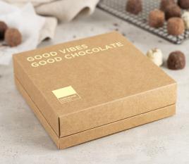 Boîte carton carrée bac-couvercle