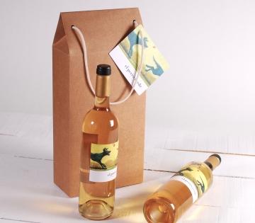 Décoration grande boîte à vin avec une anse