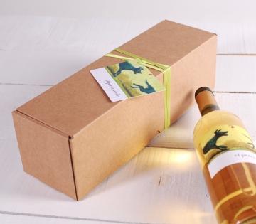 Décoration boîte à vin allongée