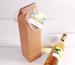 Décoration boîte à vin avec une anse