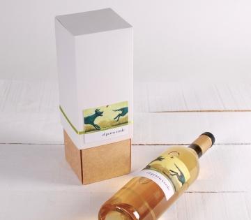 Décoration boîte à vin avec folder