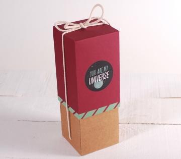 Décoration originale boîte à vin avec folder