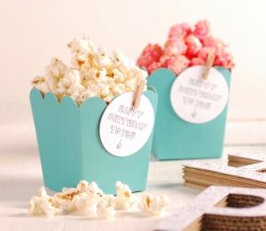 Décoration avec accessoires boîte de pop-corn